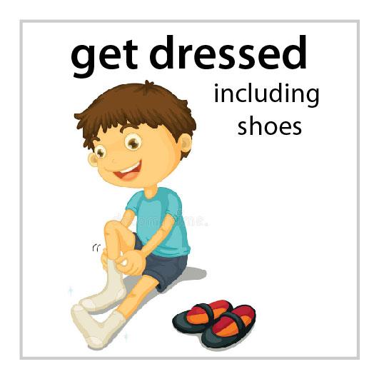 Get Dressed Inc Shoes Boy Mission Magnets
