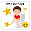 wee in toilet boy